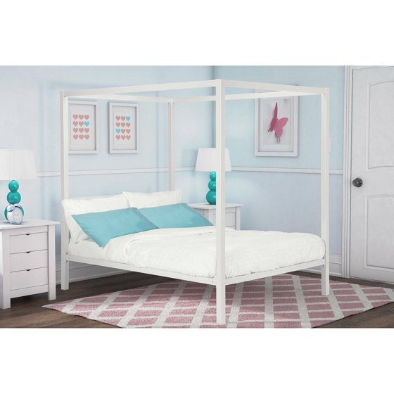 Dhp Modern Metal Canopy Bed Multiple Colors And Sizes
