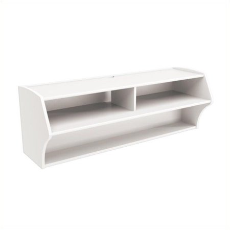 Pemberly Row Wall Mounted Audio and Video Console in White - image 1 de 4