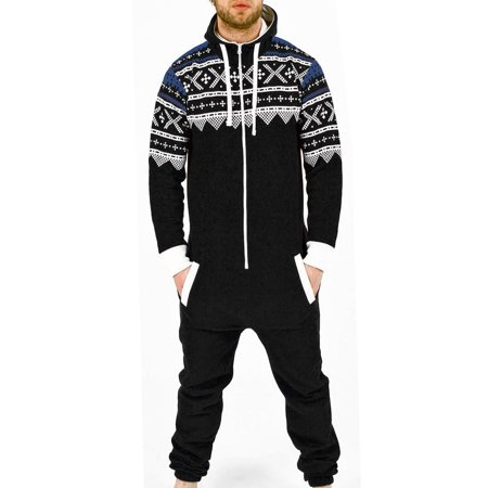 SkylineWears Mens Fashion One Piece Jumpsuit One Piece non Footed Pajamas