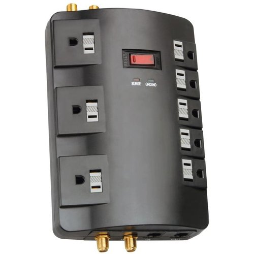 Coleman Cable 04921-88-06 5-Outlet 3500 Joules PowerStation® Surge Protector