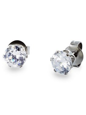 3161f6daf Product Image West Coast Jewelry Stainless Steel 3 mm Cubic Zirconia Stud  Earrings