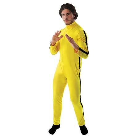 Martial Artist/ Bruce Lee Men's Costume Jumpsuit