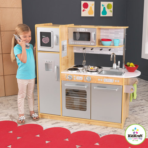 kidkraft uptown natural play kitchen - 53298 - walmart