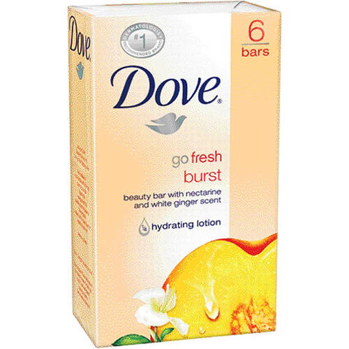 Dove Go Fresh Burst Beauty Bar, Nectarine and White Ginger, 4.25 oz