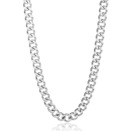 24 Inch Stainless Steel Heavy Curb Link Chain Necklace