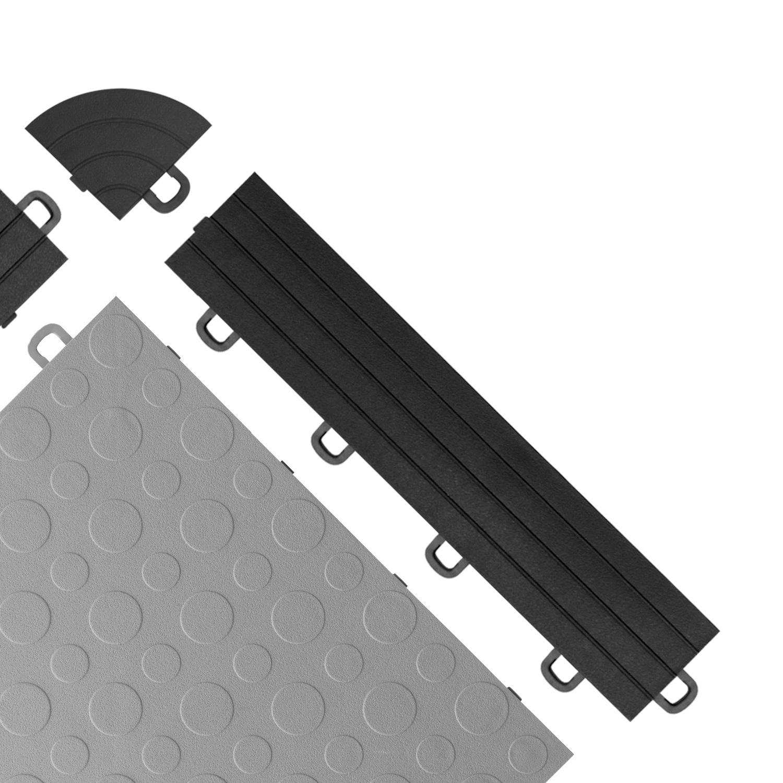 BlockTile Interlocking Ramp Edges with Loops, 12 Edges and 2 Corners