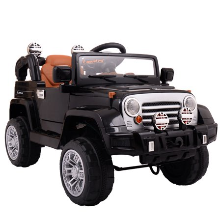 Jaxpety 12v White Jeep Kids Ride On Battery Powered Toy Vehicle