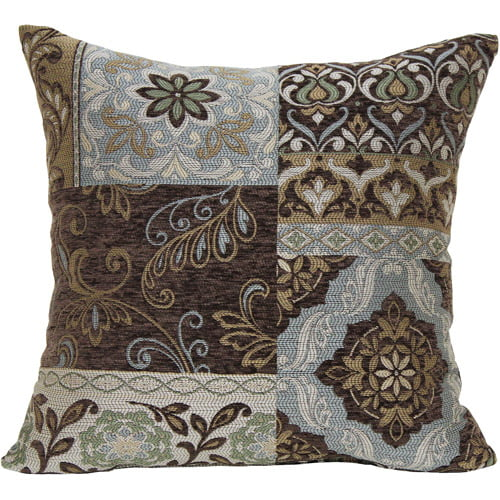 Better Homes and Gardens Blue and Brown Floral Decorative Pillow by Generic