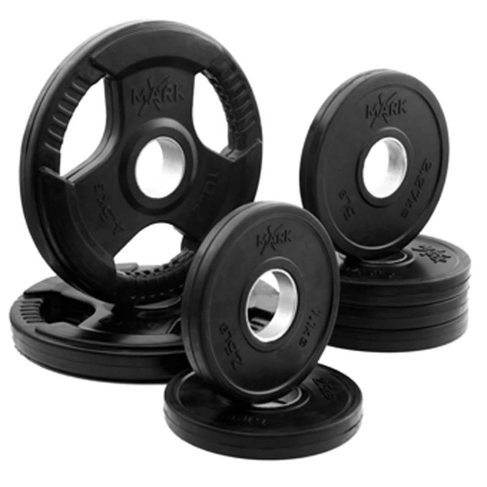 XMark Fitness Rubber Coated Olympic Plate Package - 65 Po...