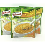 Knorr Fideos Pollo Pasta Soup Mix With Chicken Flavor 3.5 oz- Pack of 3