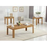 GTU Furniture Black/Oak Finish Wood Coffee Table & 2 End Tables Occasional Set