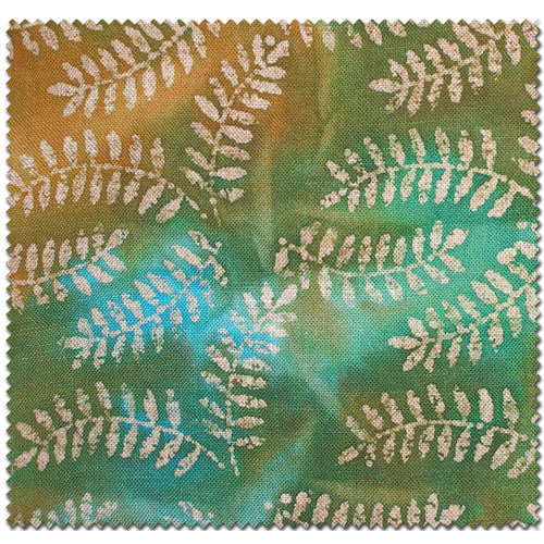Textile Creations Home Decor Burlap, Leaves,Turquoise/Brown
