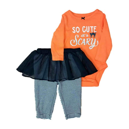 Carters Infant Girls Halloween Outfit So Cute Its Scary Bodysuit & - Not So Scary Halloween Disney World