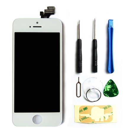 KoolPair Full Set Replacement LCD Touch Screen, Digitizer, and Tools for iPhone 5s -