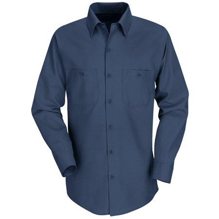 Red Kap Mens Long Sleeve Industrial Work Shirt