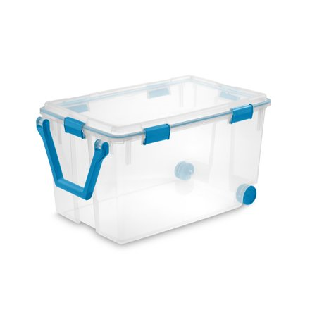 Sterilite 120 Qt. Wheeled Gasket Box Blue Aquarium