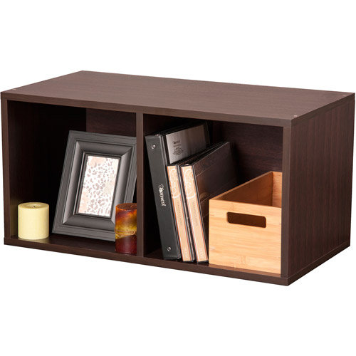 Foremost Groups Large Divided Storage Cube, Espresso