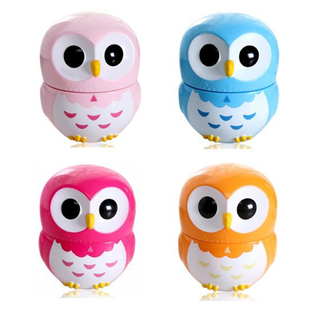 Blue Mechanical Kitchen Owl Timer, 60 Minute Timer Countdown for Cooking Baking Gifts
