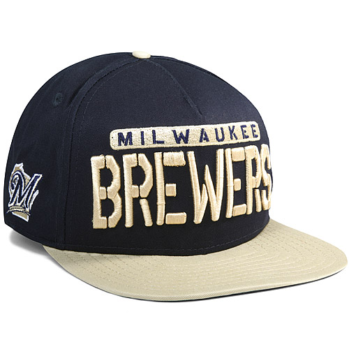 Milwaukee Brewers New Era Sa-sweeter 9FIFTY Adjustable Hat - Navy/Gold - OSFM