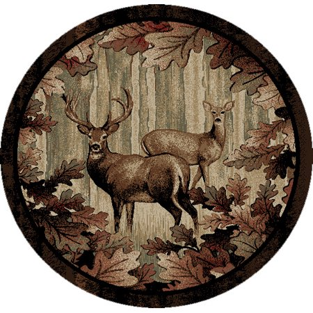 Dean Whitetail Woods Deer Lodge Cabin Carpet Area Rug Size