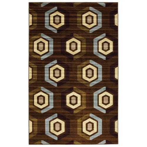 Mohawk Select Canvas Dark Brown Saddle Stitch Urban Rug