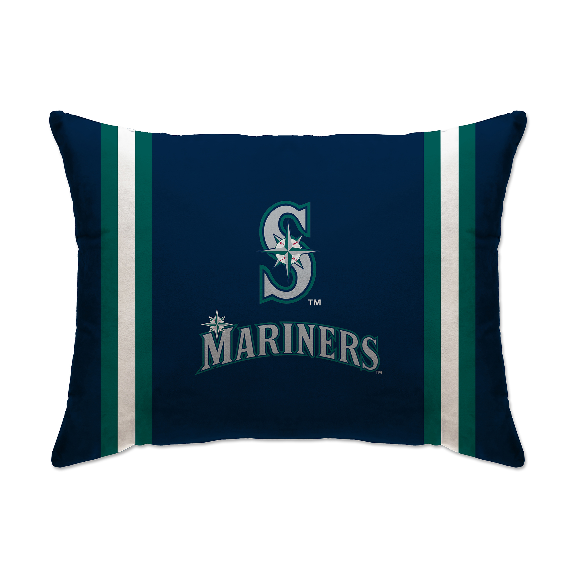 "Seattle Mariners 20"" x 26"" Plush Bed Pillow - Blue - No Size"