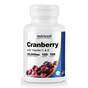 Best Cranberry Pills - Nutricost Cranberry Extract 25,000mg, 120 Capsules With Vitamin Review