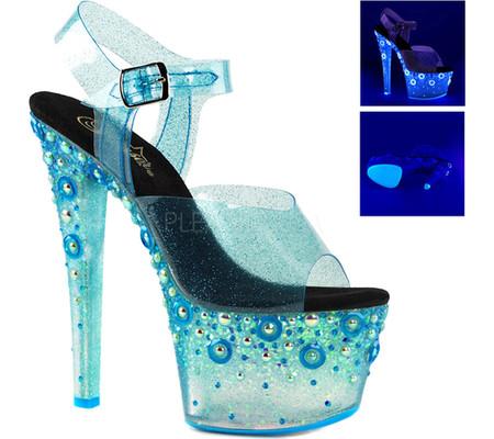 Women's Pleaser Sky 308UVMG Ankle-Strap Sandal