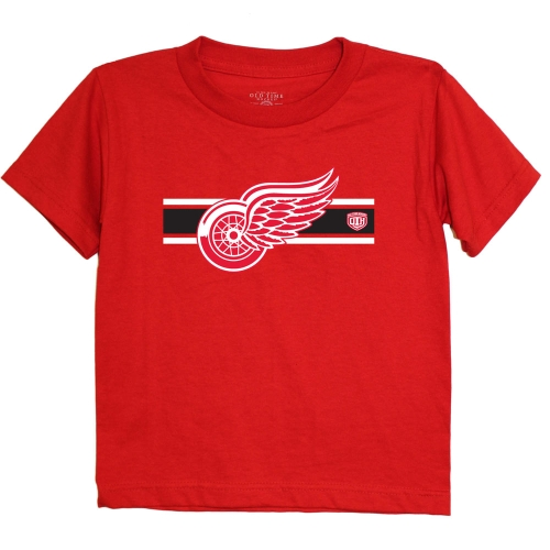 Detroit Red Wings Old Time Hockey Preschool Striped Logo T-Shirt - Red