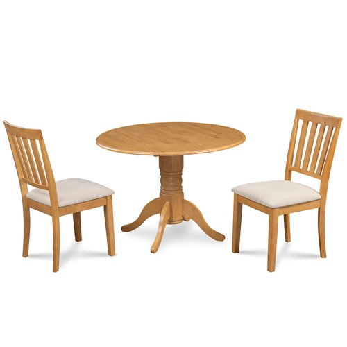 Alcott Hill Chesterton 3 Piece Solid Wood Dining Set