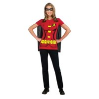 DC Comics Women's Robin T-Shirt With Cape And Eye Mask []