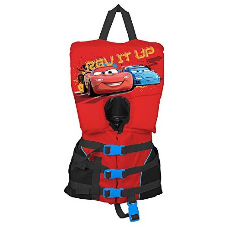 Disney Pixar Cars 2 High Voltage Infant Heads Up Vest PFD Red and Black