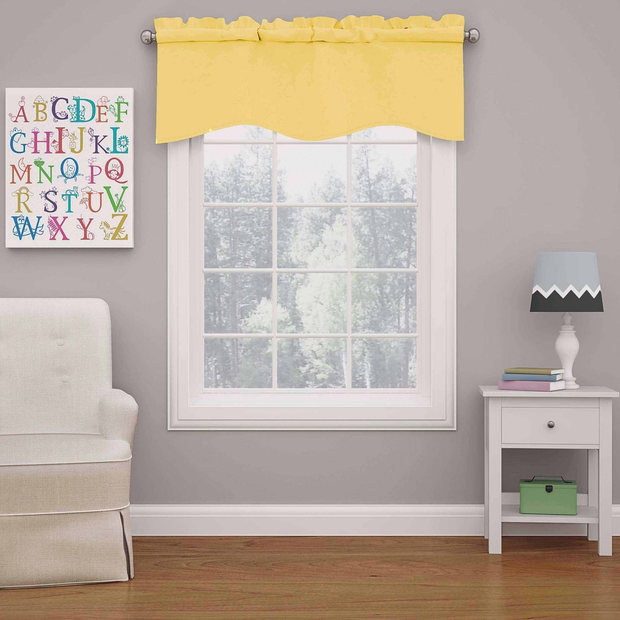 Eclipse Kendall Blackout Wave Girls Bedroom Curtain Valance by Ellery Homestyles
