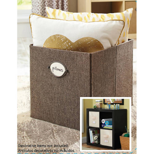 """Better Homes And Gardens 12.8""""W x 12.8""""D x 15""""H Collapsible Fabric Cube Storage Bin"""