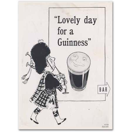 """Trademark Fine Art """"Lovely Day For A Guinness IV"""" Canvas Art by Guinness Brewery"""