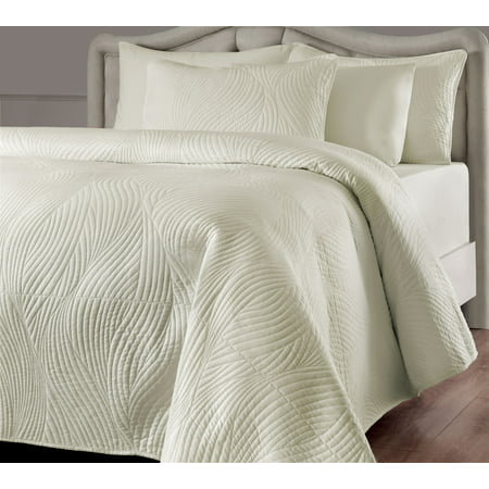 Image of Brielle Stream Quilt Set, Queen, Ivory