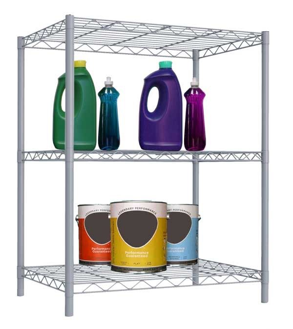 Home Basics 3-Layer Wire Shelf, Grey