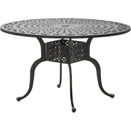 Du Monde Inch Round Cast Aluminum Outdoor Dining Table By - 48 inch outdoor table