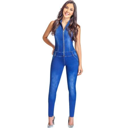 Vault Jumpsuit For Sale (Lowla EN268217 Stretch Denim Jumpusit with Abdominal Control For)