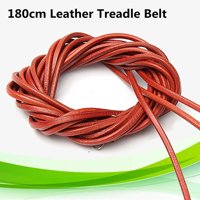 """71"""" 180cm Leather Belt Treadle Parts With Hook For Singer Sewing Machine (5mm)3/16'' Diameter"""