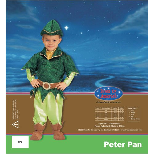 Dress Up America 437-L Deluxe Peter Pan - Large 12-14
