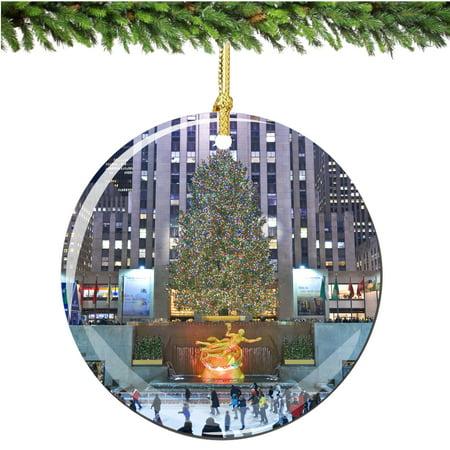 Rockefeller Center Porcelain Christmas Ornament