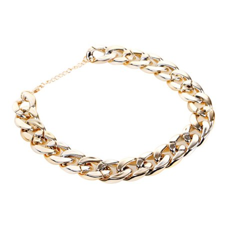 Cluxwal Dog Necklace Chain Golden Pet Chain Collar Plastic Pet Chain Necklace for Cat Dog