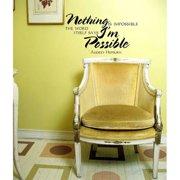 Everything Vinyl Decor Audrey Hepburn Quote Vinyl Wall Art
