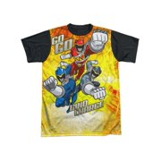 Power Rangers - Go Go Dino Charge - Short Sleeve Black Back Shirt - XXX-Large