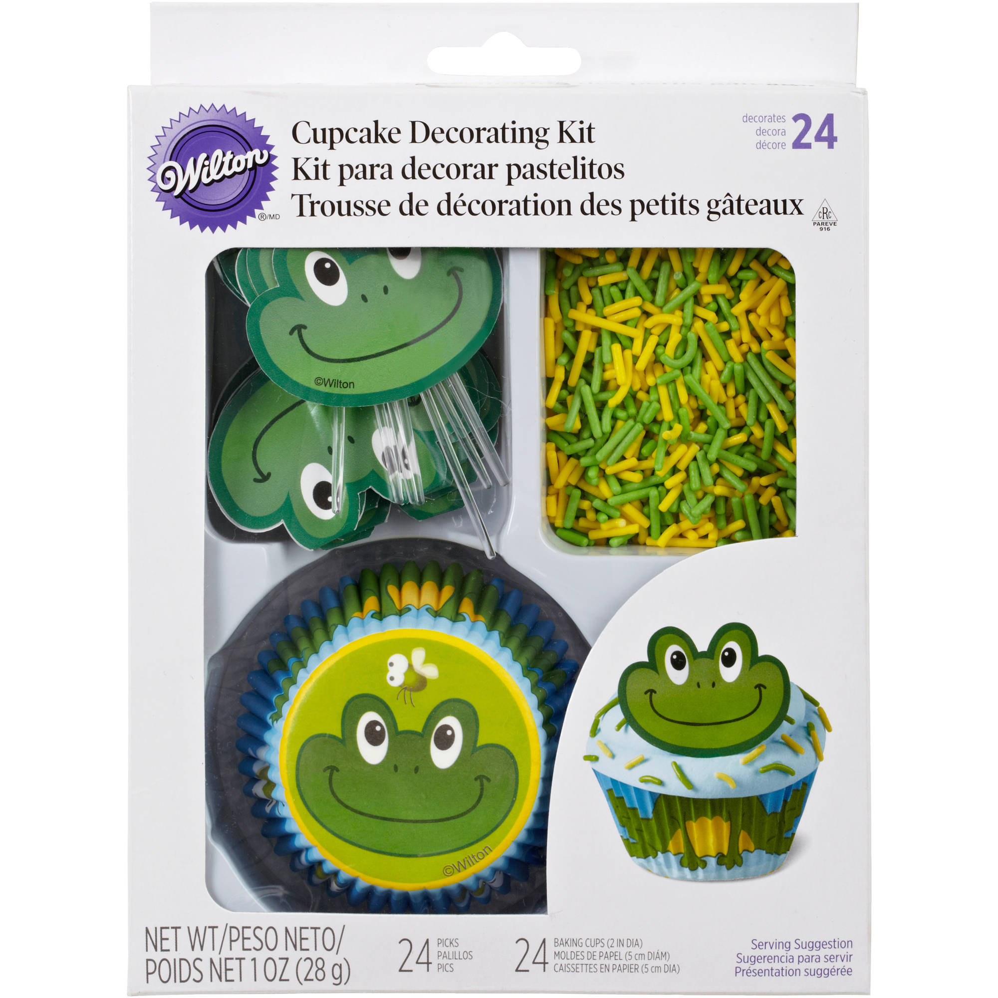 Wilton Cupcake Decorating Kit, Frog 24 ct. 415-2197