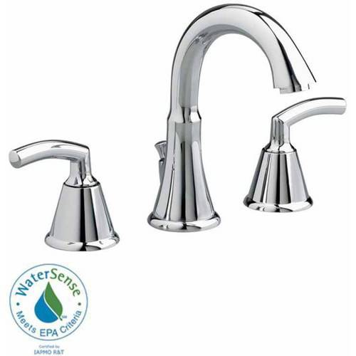 American Standard 7038.801.002 Tropic Widespread 1.5 GPM Lavatory Faucet with Metal Lever Handles and Metal Speed Connect Pop-Up Drain, Available in Various Colors