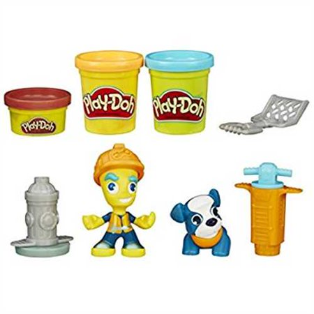 Play-Doh Town Road Worker & Pup Set with 3 Cans of (Play Doh Best Price)