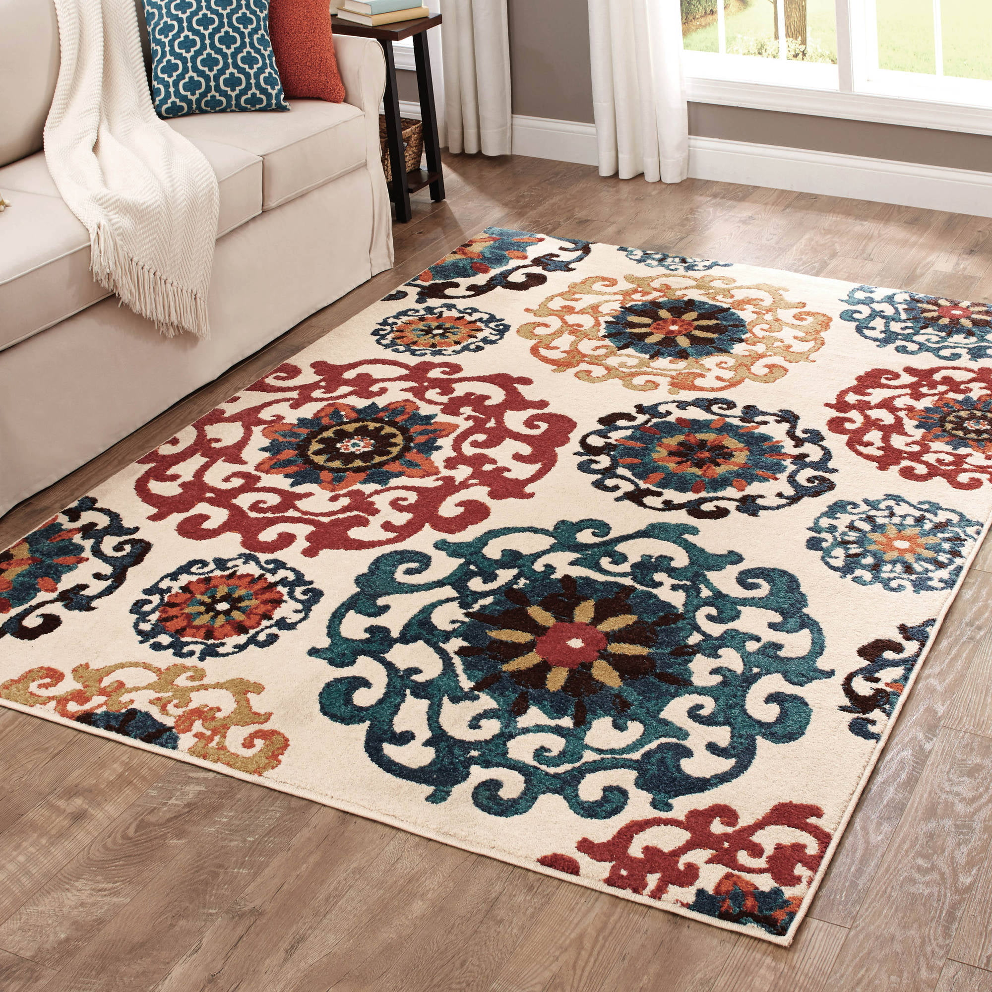 Natural Area Rugs Paisley Hand Woven White Rug