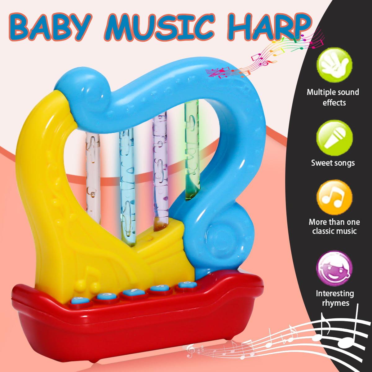 Roll LED Drum   Trumpet   Harp Music Instruments Preschool Kids Children Toddler Baby Toy by